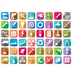Industry and energy icon set vector