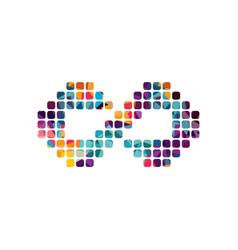 Infinity dot logotype theme art vector
