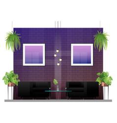 Interior scene of modern restaurant vector