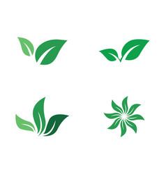 logos green tree leaf ecology vector image
