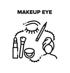 Makeup eye and brow beauty black vector