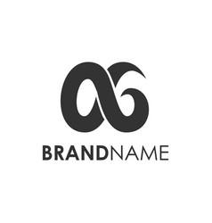 modern infinite ag initial logo creative concept vector image