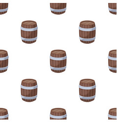 Oak barrel beer a barrel in which beer is brewed vector