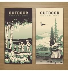 Outdoor flyer vector