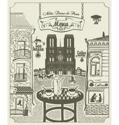 Parisian street vector image