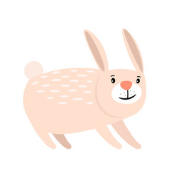 pink cartoon rabbit icon vector image