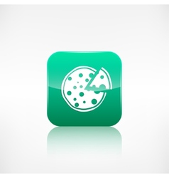 Pizza web icon Application button vector image