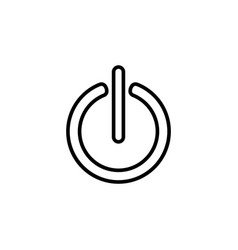 power on off line icon black on white background vector image