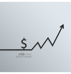 Ribbon a dollar sign and exchange the curve arrow vector image