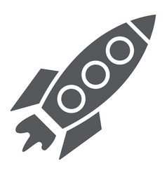 rocket glyph icon transportation and space vector image