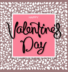 romantic valentines day design vector image