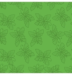 Seamless doodle with butterfly vector image