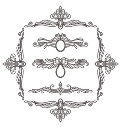 set decorative elements vector image