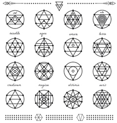 Set of geometric hipster shapes45x66 vector image