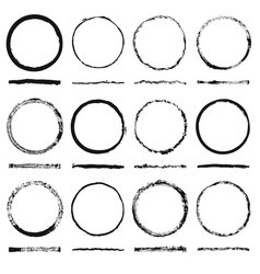 set round frames sloppy shape and texture vector image