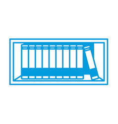 shelf with books vector image