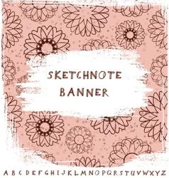 Sketchnote Banner vector