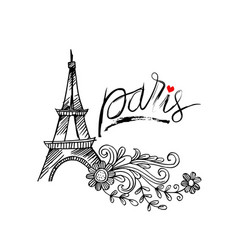 sketchy of eiffel tower in paris symbol of france vector image