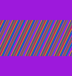 sloping retro stripes style abstract background vector image