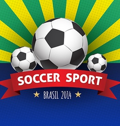 Soccer poster brazil 2014 vector image vector image
