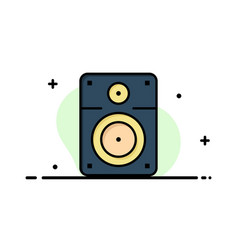 Speaker loud music education business flat line vector