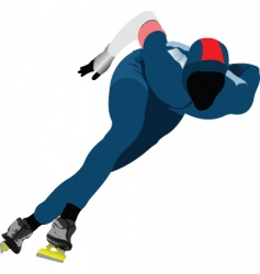 speed skating vector image