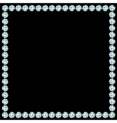 Square frame made of diamonds vector