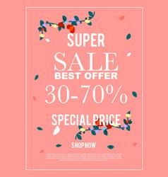 Super sale best offer 30-70 banner vector