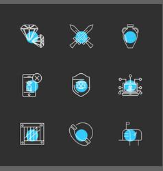 Swords smartphone call phones mailbox cyber vector