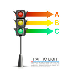 Traffic signal info on a white background vector