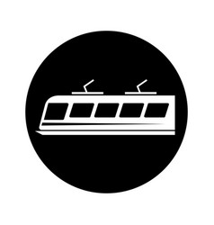 tram silhouette isolated icon vector image