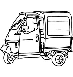 Tricycle Van vector