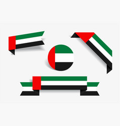 united arab emirates flag stickers and labels vector image