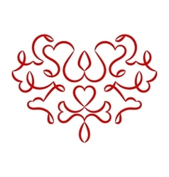 Valentines day heart pattern vector