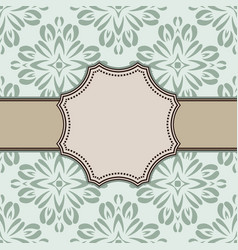 vintage abstract flower frame with text place vector image