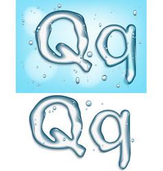 Water typeface vector