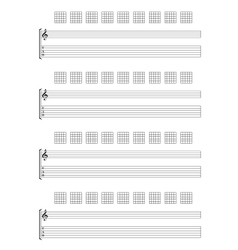 Guitar TAB Staff vector image vector image