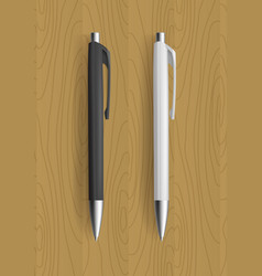 realistic pens for identity design vector image vector image