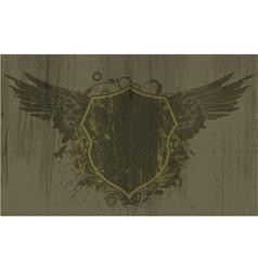 vintage emblem on grunge background vector image