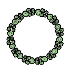 Beauty circle of leaves decoration design vector
