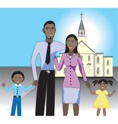 family church vector image vector image