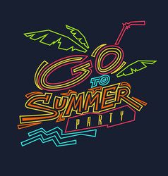 go to summer party vector image