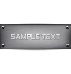 metal plate with screws vector image vector image