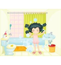 Bath time vector image vector image