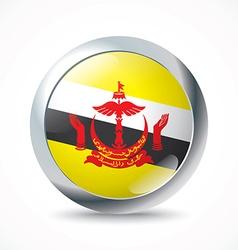 Brunei flag button vector image vector image