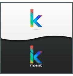 Letter k logo alphabet mosaic icon set background vector