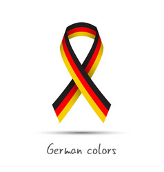 modern colored ribbon with the german tricolor vector image