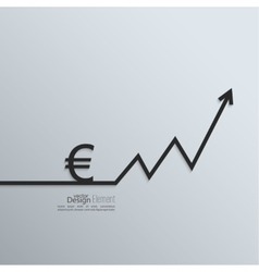 Ribbon euro sign and exchange the curve arrow vector image vector image