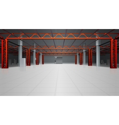 Warehouse Interior Realistic Background vector image vector image