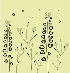 Decoration with field flowers vector image vector image